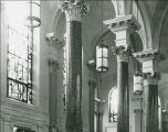 SBM.11e11 View of new hanging lighting fixtures and new stained glass windows